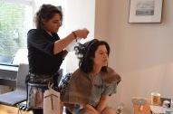 Harriet Green + makeup artist Scarlett O'Connell.